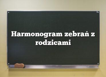 Harmonogram zebrań zrodzicami