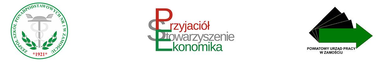 Logotypy ZSP nr1, SPE, PUP Zamość